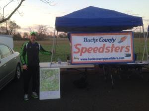 Working at the Bucks County Half Marathon