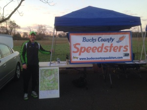 Working at the Bucks County Half Marathon