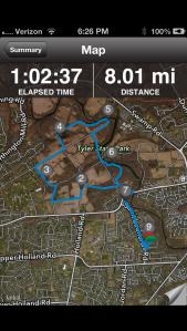 Today's Easy 8 Mile Run