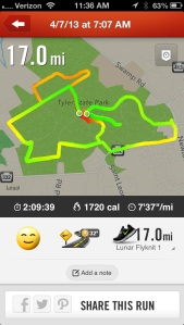 17 Mile Run in Tyler State Park