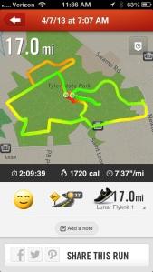 17 Mile Run in Tyler State Park