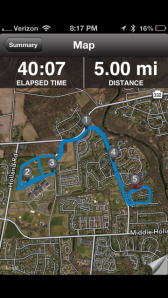 5 Mile Evening Run