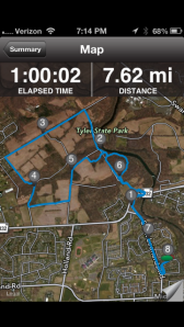 Hour Run in Tyler State Park