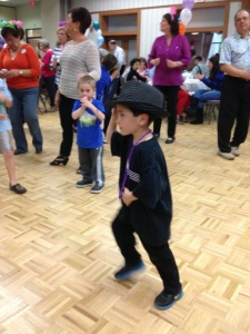 Aaron Dancing at the Shir Ami Party.