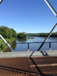 View of Delaware River from Washington Crossing Bridge Looking North
