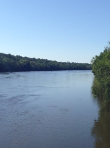 View of Delaware River from Washington Crossing Bridge Looking South