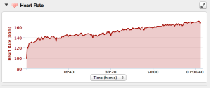 Heart Rate on 9 Mile Run after 5K
