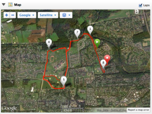 Course for 8 Miles with 2 Miles at 10K Pace