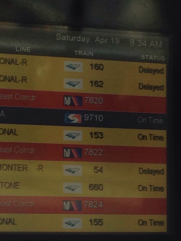 North East Corridor Train DELAYED!