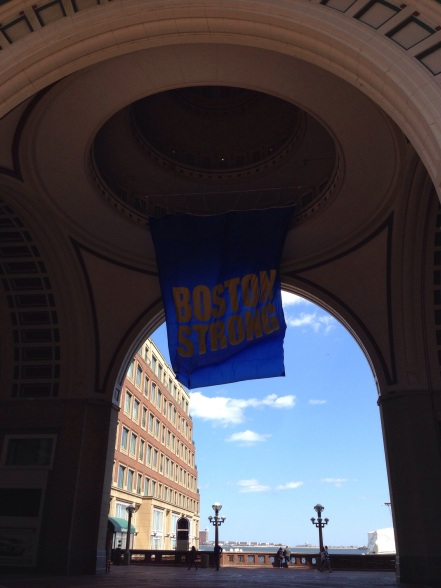 Boston Strong Banner Near our Hotel