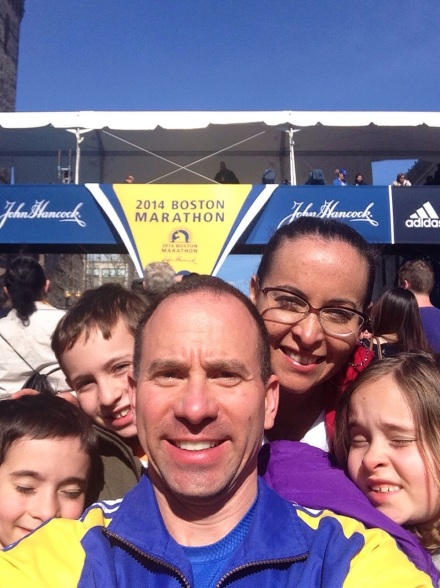 Family Selfie at Finish Line!