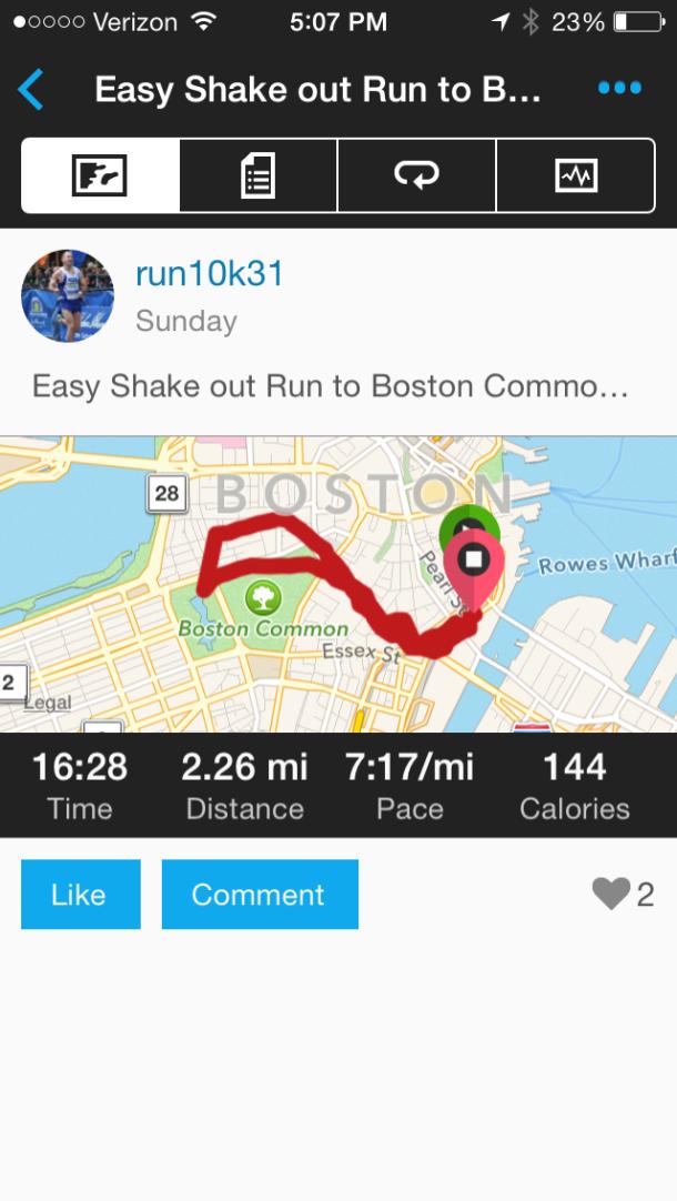 Shake out jog....